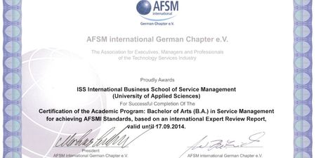 AFSMI German Chapter e.V. proudly awards